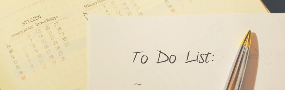 لیست کارها در جلسه کاری