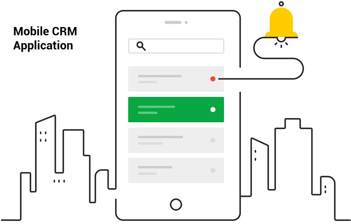 نرم افزار موبایل مدیریت ارتباط با مشتری